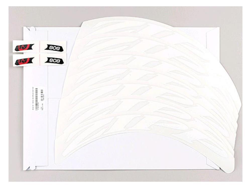 Zipp 808 Dekor Aufklebersatz Matt Weiss Für Ein Laufrad