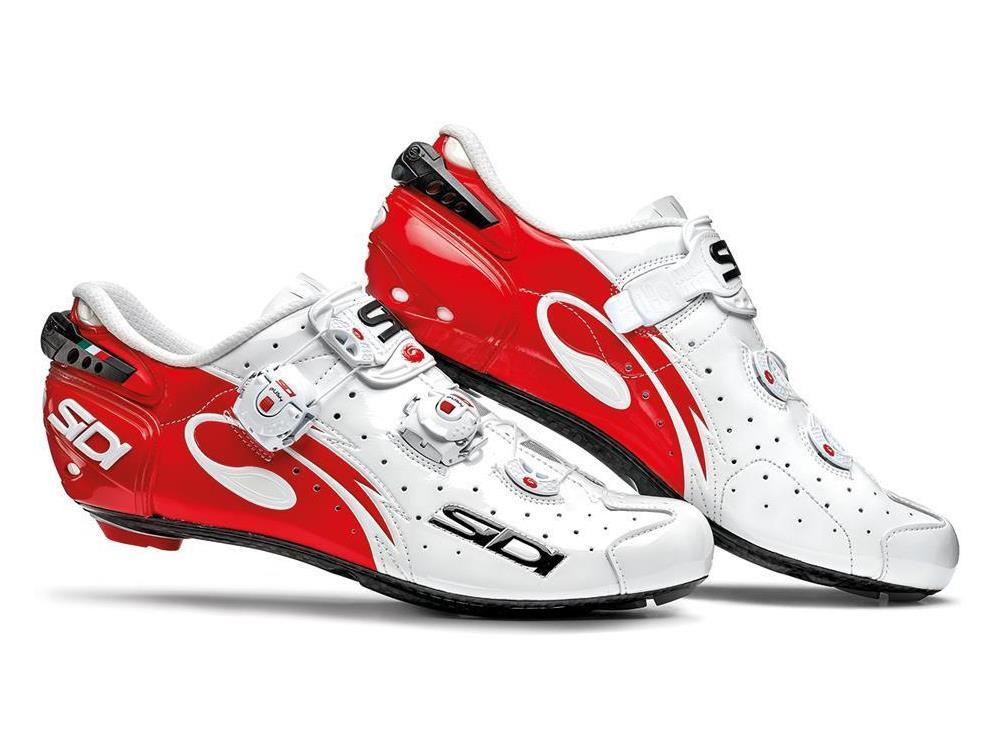 SIDI Wire Carbon Push Vernice Rennrad Schuh 43 weissrot