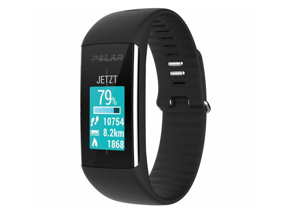polar a360 fitness tracker black mit pulsmessung am handgelenk. Black Bedroom Furniture Sets. Home Design Ideas