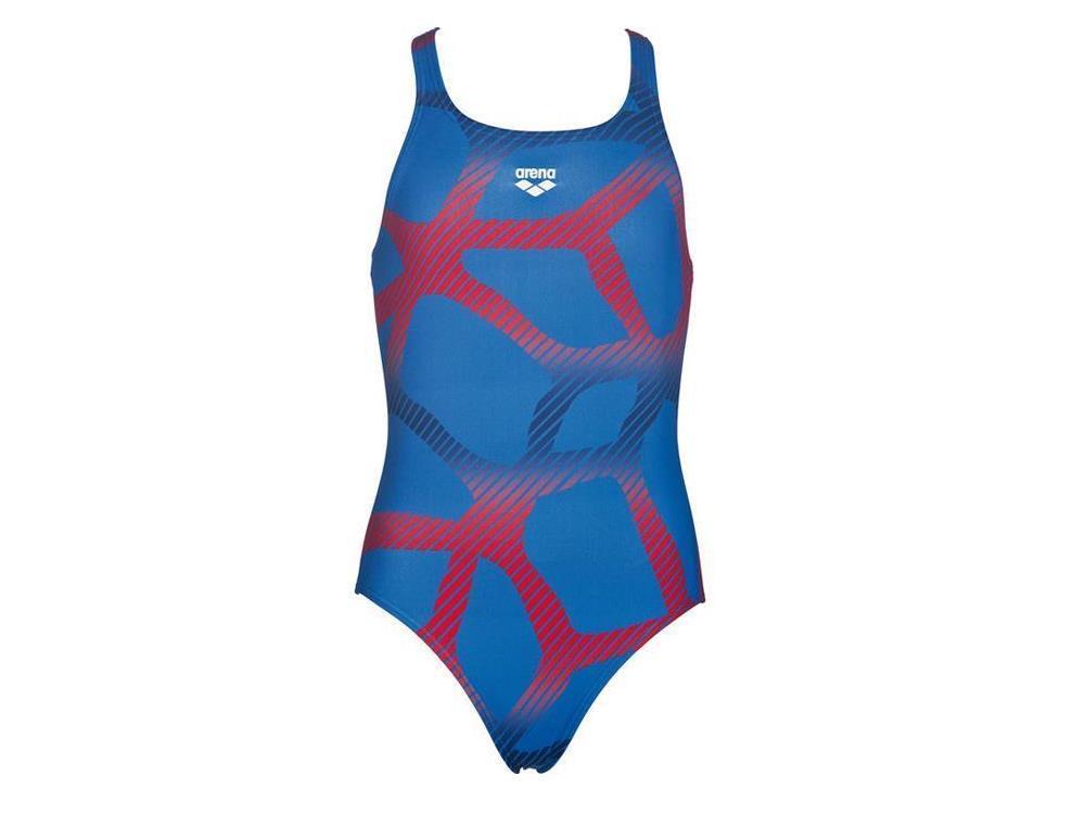 arena spider m dchen badeanzug swim pro back 152 royal red. Black Bedroom Furniture Sets. Home Design Ideas