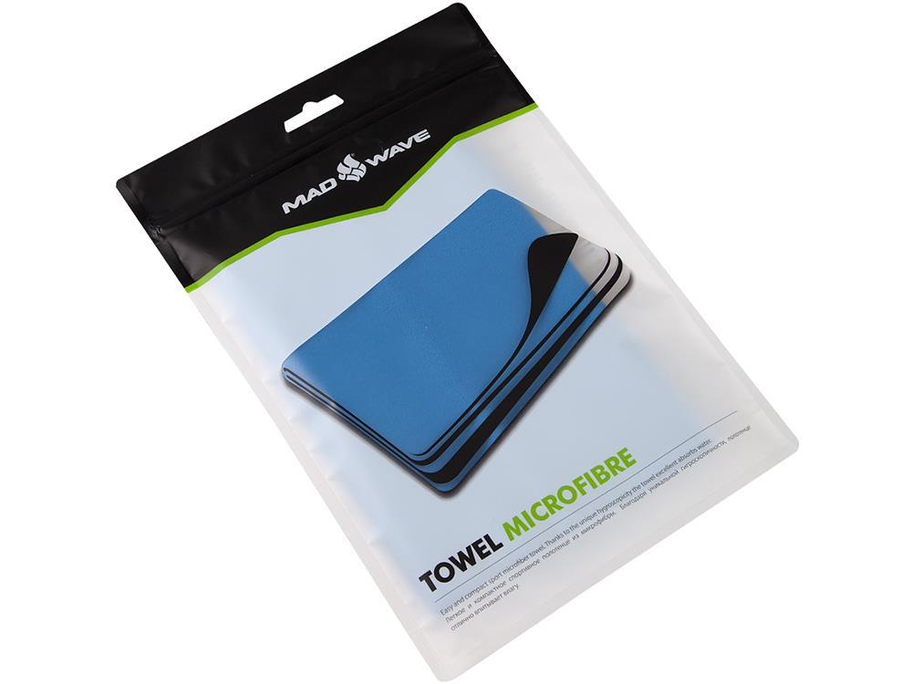 mad wave microfaser handtuch 80x40 cm blue. Black Bedroom Furniture Sets. Home Design Ideas