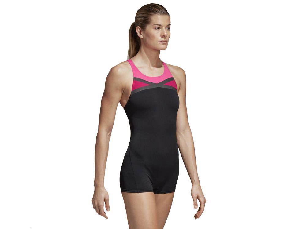 b7a9e88d154704 Adidas Schwimmanzug mit Bein Badeanzug - 42 black/shock pink