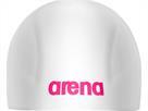 Arena 3D Ultra Racing Silikon Badekappe - L white/fuchsia