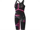 Adidas Adizero XVIII Breastroke Wettkampfanzug Open Back - 32 black/shock pink