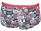 Arena Comics Low Waist Badehose - 2 fluo red/black