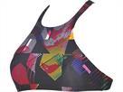Arena Crop Think Schwimmbikini Oberteil Rule Breaker - L multicolor/fresia rose