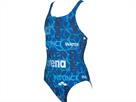 Arena Evolution Mädchen Badeanzug Swim Pro Back - 128 pix blue/navy