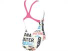 Arena Evolution Mädchen Badeanzug Swim Pro Back - 116 white/fluo red