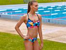 Funkita Colour Burst Ladies Schwimmbikini Sports Top + Sport Brief - 40 (14)