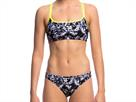 Funkita Midnight Assassin Ladies Schwimmbikini Criss Cross Top + Bibi Banded Brief - 40 (14)