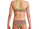 Funkita Fireworks Ladies Schwimmbikini Criss Cross Top + Bibi Banded Brief - 40 (14)