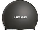 Head Flat Silikon Pearl Badekappe - black