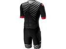 Castelli Free Sanremo Tri Suit SS Einteiler Kurzarmversion - L black/black