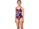Aquafeel I-NOV Camou Splash Mädchen Badeanzug V-Back - 164