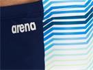 Arena Multicolor Stripes Jammer Badehose - 5 navy/multi