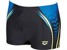 Arena ONE Placed Short Badehose - 7 black/pix blue