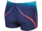 Arena ONE Placed Short Badehose - 6 navy/fluo red
