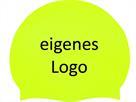 Smit Sport Soft Silikon 100 Badekappen eigenes Logo M eine Druckfarbe - fluo yellow