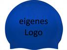 Smit Sport Soft Silikon 100 Badekappen eigenes Logo M eine Druckfarbe - royal blue