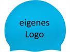 Smit Sport Soft Silikon 100 Badekappen eigenes Logo M eine Druckfarbe - sky blue