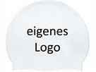 Smit Sport Soft Silikon 100 Badekappen eigenes Logo M drei Druckfarben - white