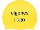 Smit Sport Soft Silikon 100 Badekappen eigenes Logo M zwei Druckfarben - yellow