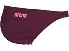 Arena Solid Bottom Schwimmbikini Hose - 38 red wine/shiny pink