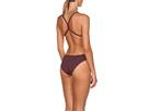 Arena Solid High Badeanzug Lighttech Back - 32 red wine/shiny pink