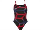 Arena Spider Badeanzug Booster Back - 38 black/red
