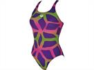Arena Spider Badeanzug Swim Pro Back - 42 mirtilla/leaf