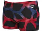Arena Spider Short Badehose - 7 black/red