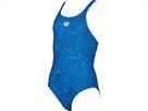 Arena Water Mädchen Badeanzug New V Back - 140 royal/navy