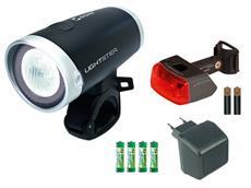 Sigma Lightster LED Set Komplett Ladegerät + Akkus + Rücklicht