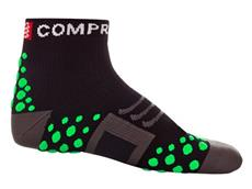 Compressport Run Hi-Cut Socken - 37-39 black/green dots