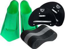 Arena Finger-Paddle/Pull Buoy Set 2 inkl. Powerfin Schwimmflossen