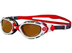 Zoggs Predator Flex Polarized Ultra Schwimmbrille white-grey-red/ polarized