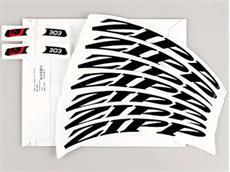 Zipp 303 Dekor Aufklebersatz matt schwarz für ein Laufrad