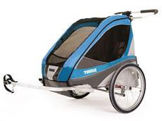 Thule Chariot Corsaire 2 Kinderanhänger inkl. Fahrradset