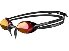 Arena Swedix Mirror Schwimmbrille - black/red-yellow