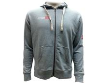 equipeRED Logo Zipped Hoodie Men grey