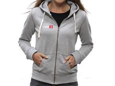 equipeRED Logo Zipped Hoodie Women grey