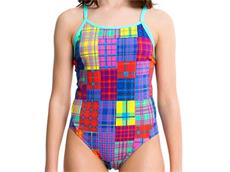 Funkita Hot Scot Buns Girls Badeanzug Diamond Back - 14