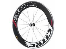 Citec 8000 CX Carbon Vorderrad 12 Speichen - weiss/schwarz/rot