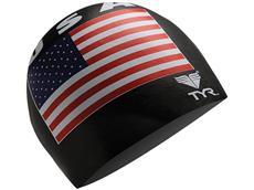 TYR USA Silikon Badekappe black
