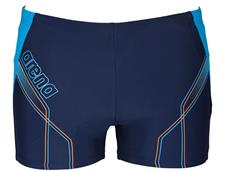 Arena Cruzeiro Short Badehose - 7 navy/turquoise/soft orange