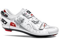 SIDI Ergo 4 Carbon Vernice Rennrad Schuh - 43 weiss/weiss