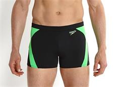 Speedo Logo Graphic Splice Aquashort Badehose Endurance+ - 3 black/fluo green