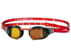 Speedo Prime Goggle Mirror Schwimmbrille red/black/gold mirror