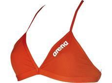 Arena Solid Tie Back Top Schwimmbikini Oberteil - 34 red/white