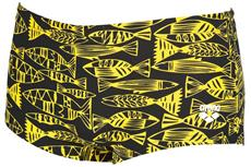Arena Fisk Low Waist Short Badehose - 3 black/yellow star